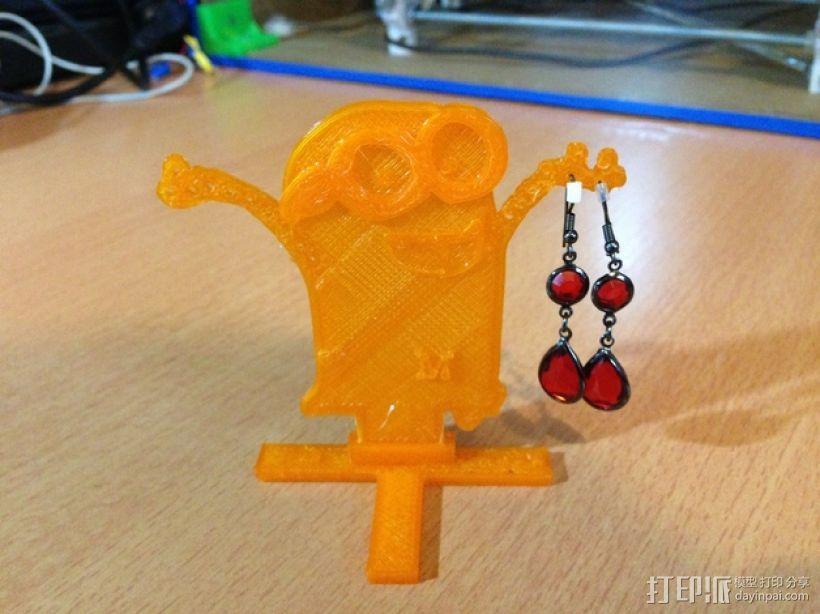 小黄人耳坠架 3D模型  图4