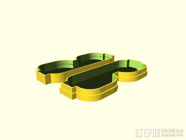 透明眼镜盒 3D模型  图2