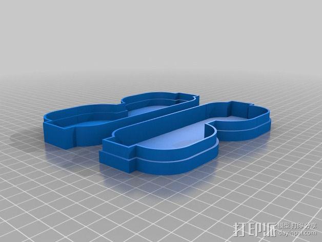 透明眼镜盒 3D模型  图3