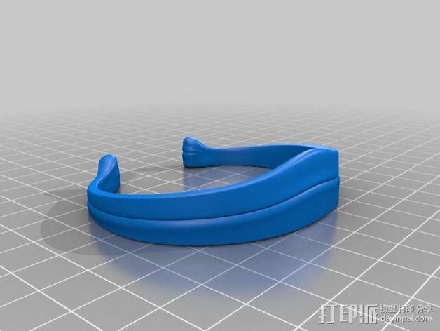 皇冠形手镯 3D模型  图2