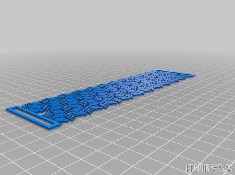 介孔材料手镯 3D模型  图2