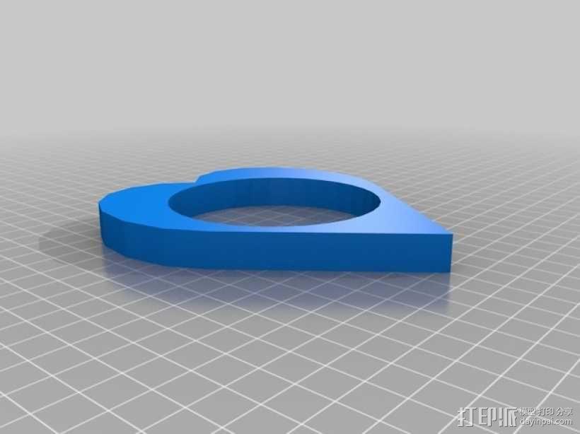 心形手环 3D模型  图1