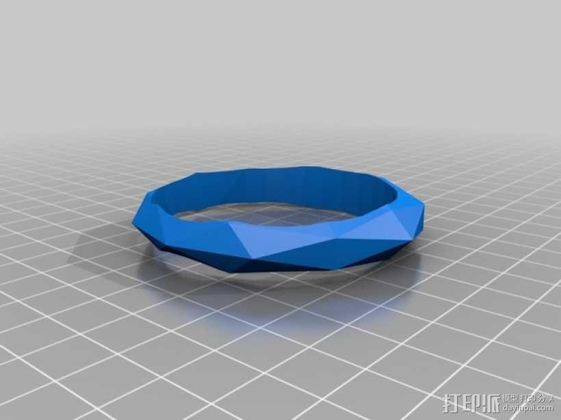 几何平面手镯 3D模型  图1