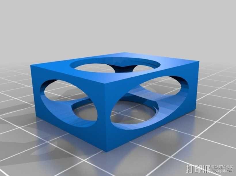 复古方形手镯 3D模型  图1