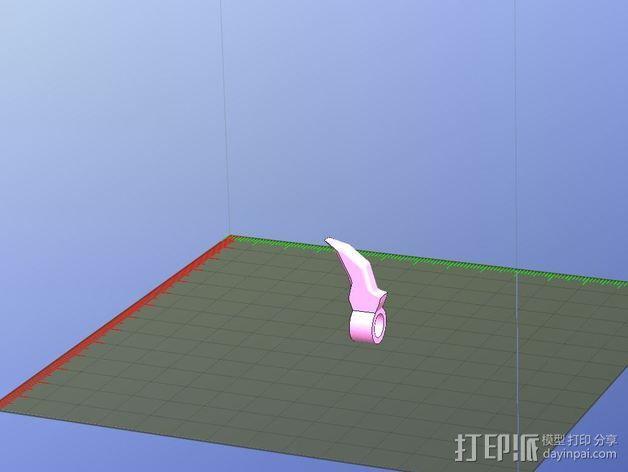 尖牙 项链坠 3D模型  图1