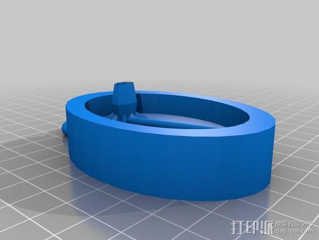 水仙花 挂件 3D模型  图2