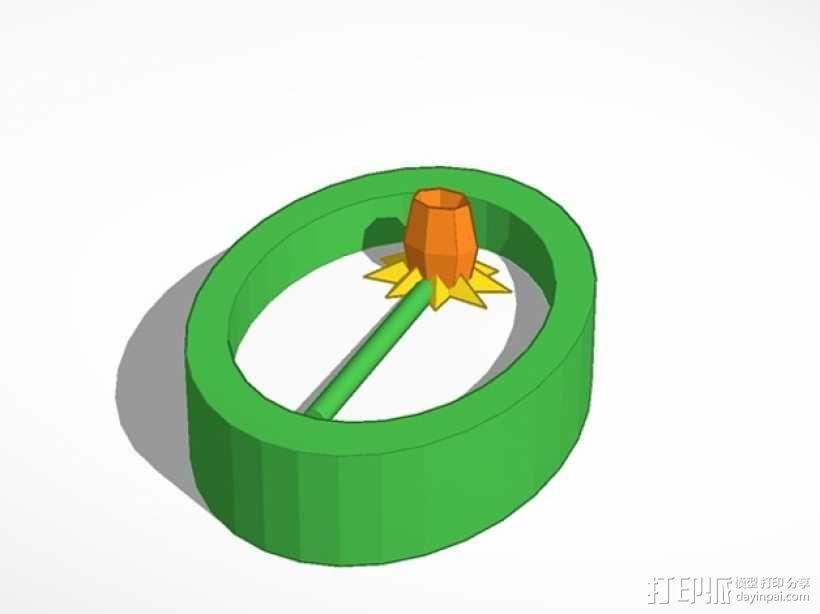 水仙花 挂件 3D模型  图1