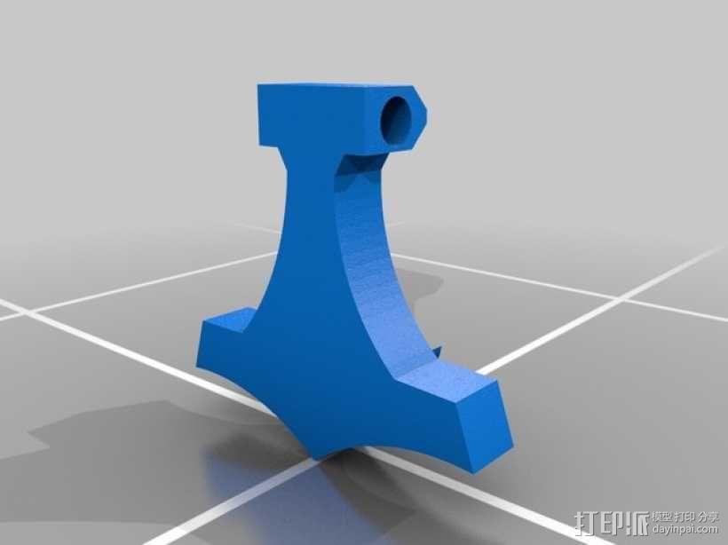 雷神之锤 项链坠 3D模型  图1