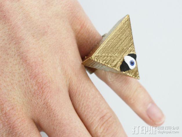 三角戒指 3D模型  图1