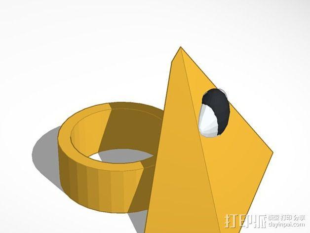 三角戒指 3D模型  图2