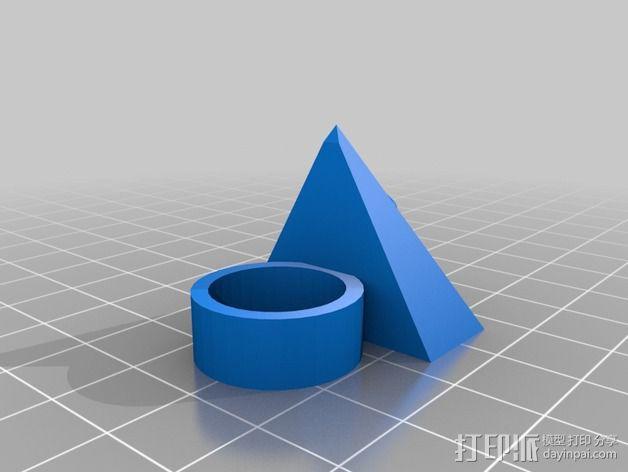 三角戒指 3D模型  图3
