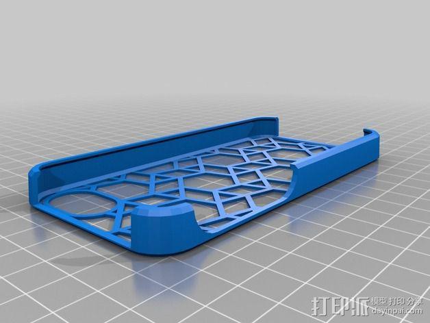 iphone 5c手机保护壳 3D模型  图1