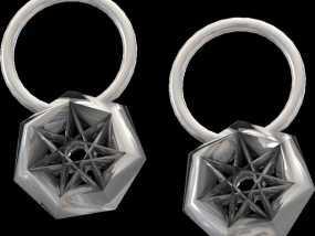 星星耳坠 3D模型