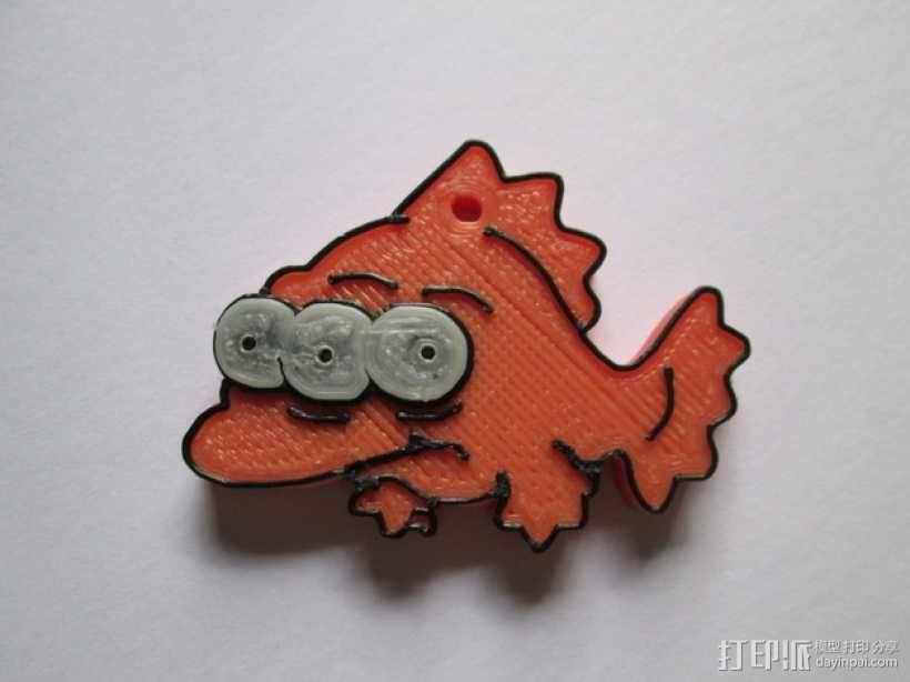 辛普森一家 三眼鱼Blinky挂件 3D模型  图1