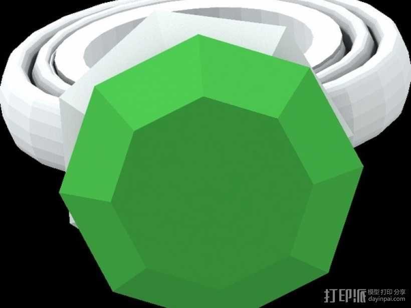 宝石戒指 3D模型  图1
