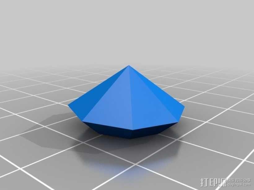 宝石戒指 3D模型  图2