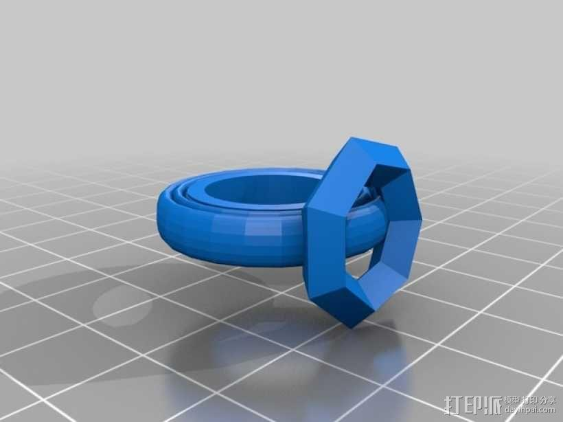 宝石戒指 3D模型  图3