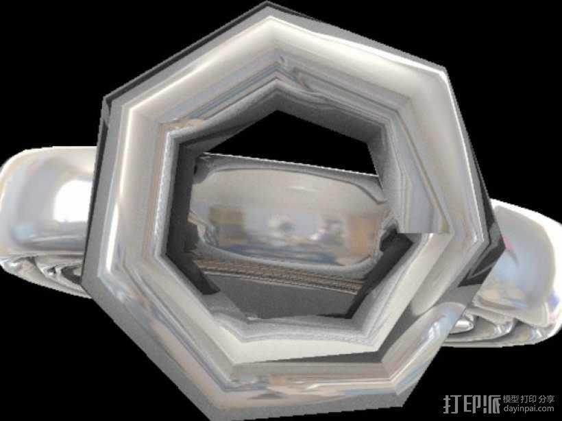 宝石戒指 3D模型  图5