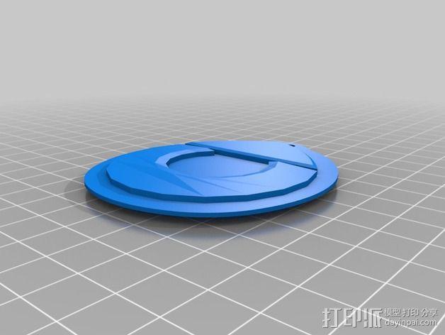 奔驰Smart fortwo标志 钥匙扣 3D模型  图1