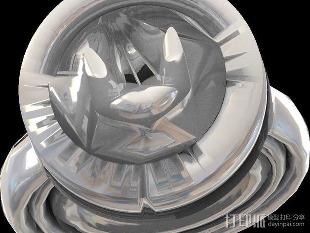 蝙蝠侠戒指 3D模型  图1