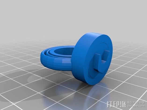 蝙蝠侠戒指 3D模型  图2