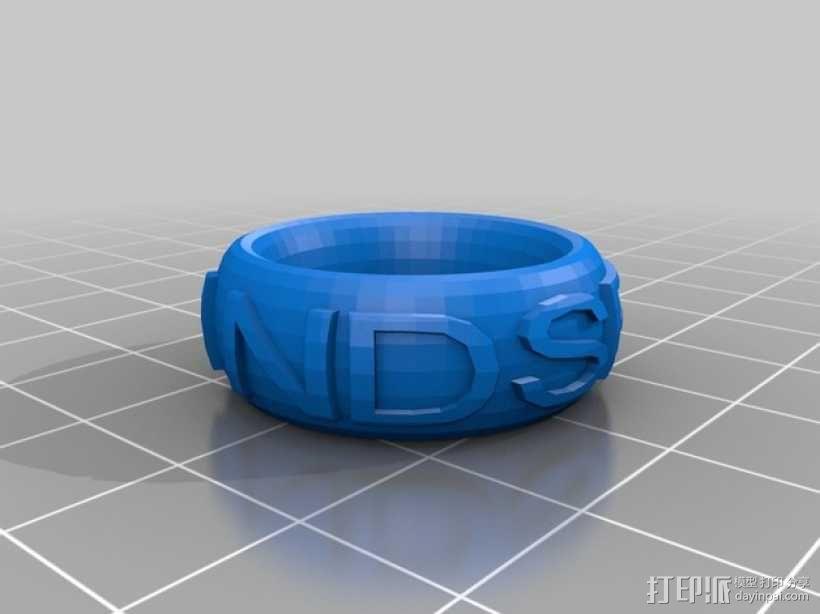 LINDSEY戒指 3D模型  图1
