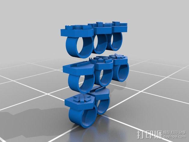 僵尸图标 戒指 3D模型  图1