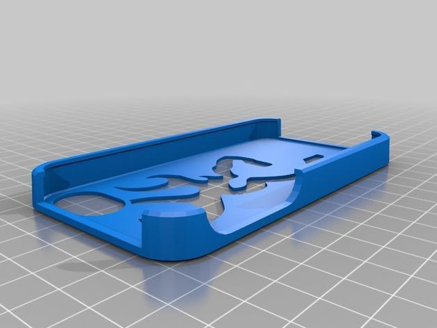 browning 标志iphone 4s手机保护套 3D模型  图1