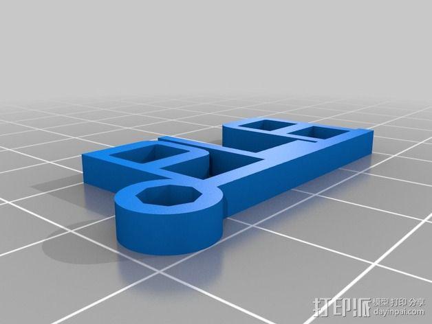 PLA字母吊坠 3D模型  图1