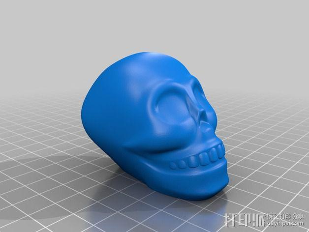骷髅头手杖 3D模型  图2