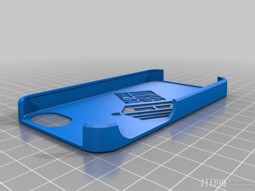 神秘博士 Iphone 4手机保护套 3D模型  图1