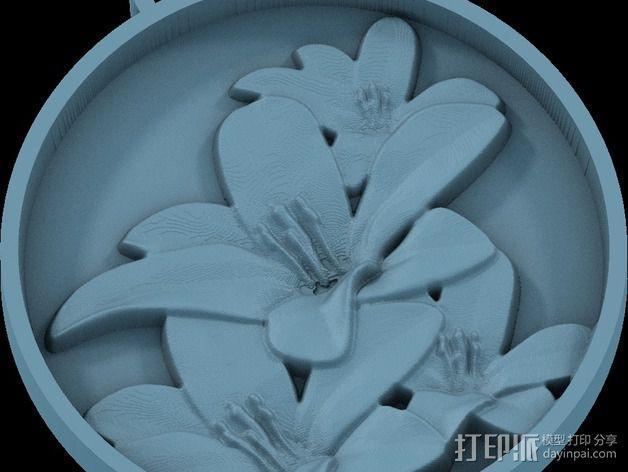 鲜花 吊坠 3D模型  图2