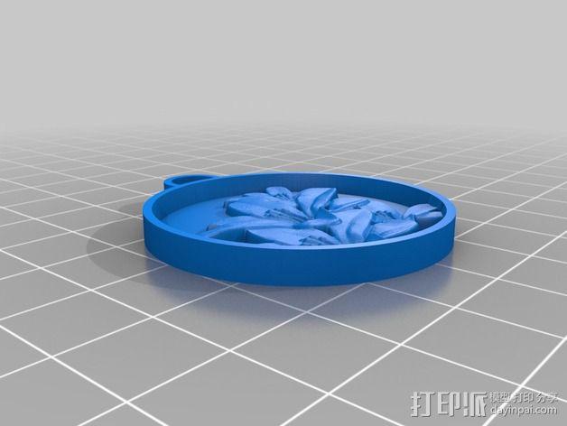鲜花 吊坠 3D模型  图4