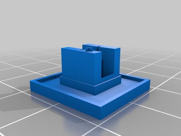Tardis警察亭 LED耳坠 3D模型  图2