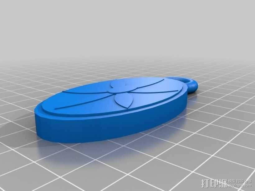 花形吊坠 3D模型  图2