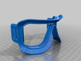 滑雪护目镜 3D模型