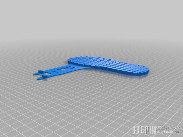 凉拖鞋 3D模型  图4