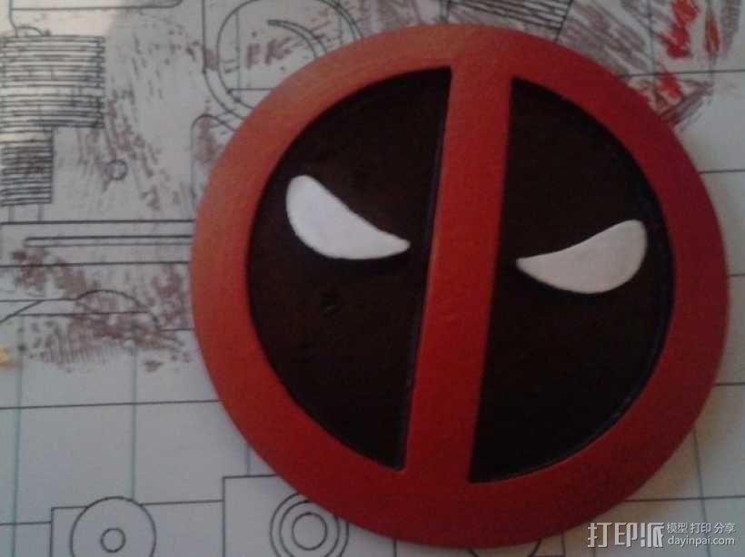 Deadpool死侍皮带扣 3D模型  图1