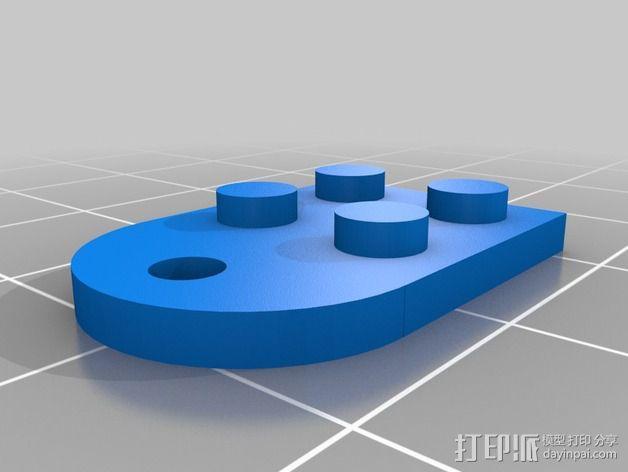 乐高积木 挂件 3D模型  图1