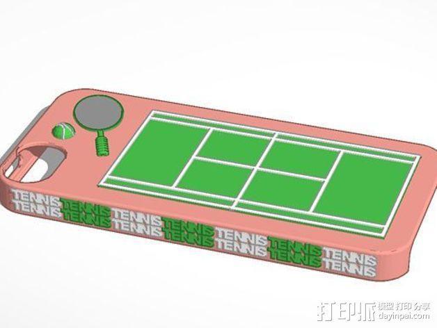 网球 iPhone5手机壳 3D模型  图2