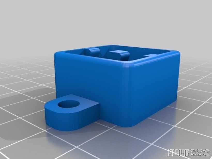 耳塞盒钥匙扣 3D模型  图1