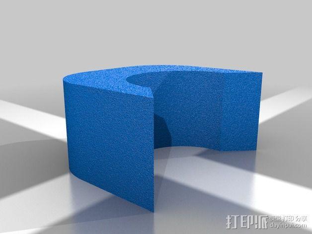 破碎球耳坠 3D模型  图4