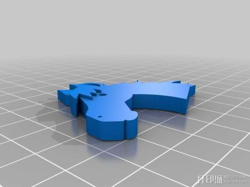 马头 钥匙坠 3D模型  图1
