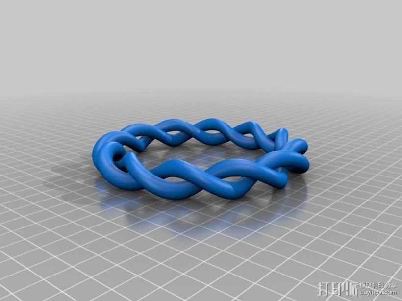 螺旋手镯 3D模型  图2
