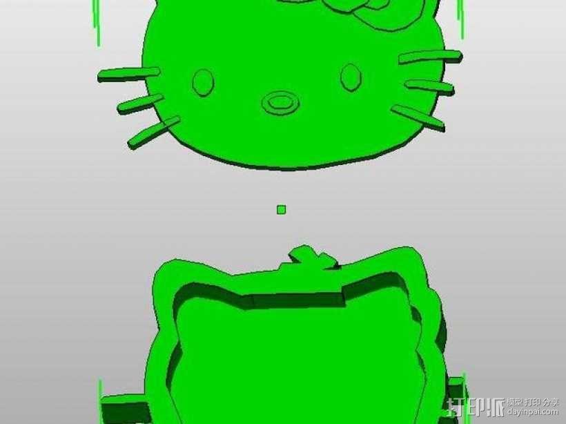 Kitty猫 盒子 3D模型  图1