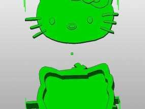 Kitty猫 盒子 3D模型
