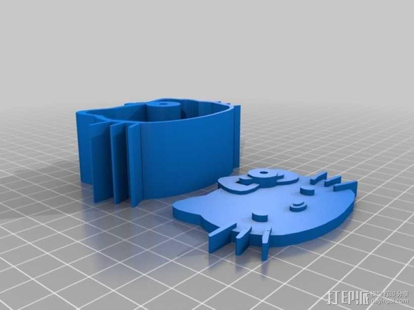 Kitty猫 盒子 3D模型  图2