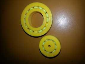 20mm x 40mm滚珠轴承  3D模型