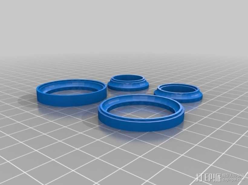 20mm x 40mm滚珠轴承  3D模型  图2