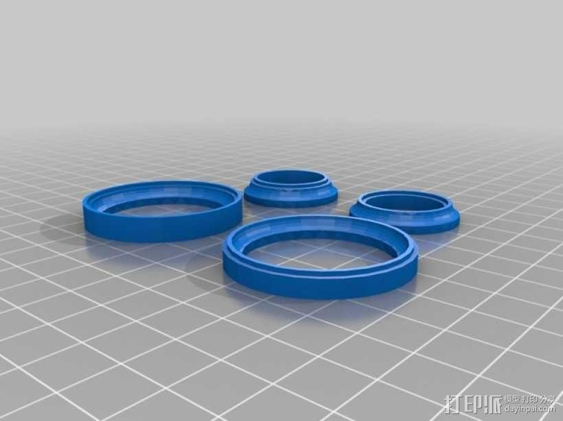 20mm x 40mm滚珠轴承  3D模型  图3